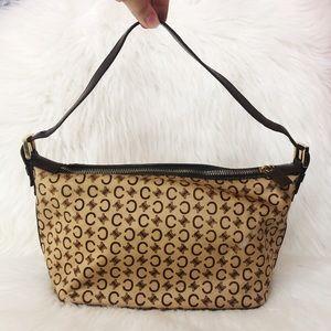 Vintage Celine Ponyhair Logo Small Shoulder Bag
